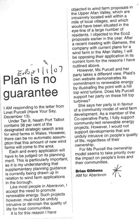 Evening Post Letter
